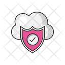 Cloud Shield Secure Icon