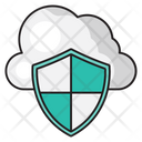 Cloud Security Shield Icon