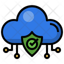 Cloud Shield Shield Security System Icon