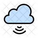 Cloud Database Wireless Icon