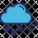 Cloud Snow Wind Icon
