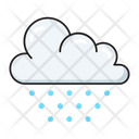 Cloud Snowing Snowflake Icon