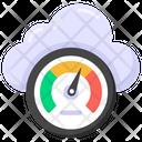 Cloud Performance Cloud Speed Cloud Efficiency Icon