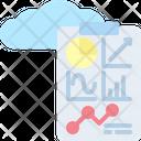 Cloud Statistics Icon