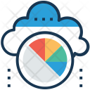Cloud statistics Icon