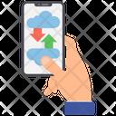 Online Storage Cloud Storage Online Data Icon