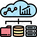 Cloud Server Statistics Icon