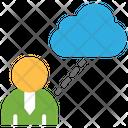 Cloud Storage Businessman Cloud Connection Icon