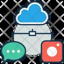 Cloud Storage Online Storage Data Storage Icon