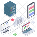 Cloud Storage Cloud Computing Cloud Technology Icon