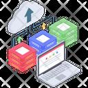 Cloud Storage Cloud Computing Cloud Technology Icon