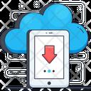 Data Download Cloud Hosting Cloud Computing Icon