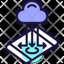 Cloud Storage Cloud Store Cloud Data Transfer Icon