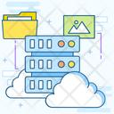 Cloud Computing Cloud Storage Cloud Hosting Icon