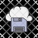 Floppy Diskette Cloud Icon