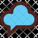 Cloud Storage Cloud Message Cloud Chats Icon