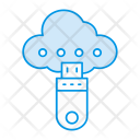Usb Drive Cloud Icon