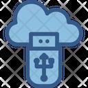 Cloud Data Storage Usb Icon