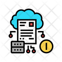 Cloud Storage Incident Icon