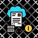 Cloud Storage Incident Icon