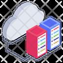 Cloud Servers Cloud Storage Cloud Data Icon