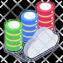 Cloud Servers Cloud Storage Cloud Databases Icon