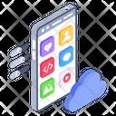 Cloud Storage Cloud Application Cloud Apps Icon