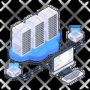 Data Centers Online Data Storage Cloud Storage Icon