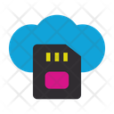 Cloud Storage Sd Card Connection Icon