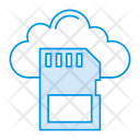 Cloud Storage Microchip Icon