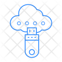 Cloud Storage Usb Icon