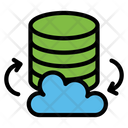 Cloud Storage Cloud Database Icon