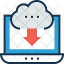 Cloud Storage Download Icon