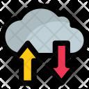 Cloud Arrows Storage Icon