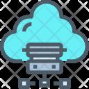 Cloud Storage Network Icon