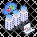 Cloud Hosting Cloud Computing Cloud Storage Display Icon