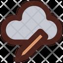 Cloud Storage Editing Icon