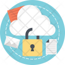 Cloud Storage Encryption Icon