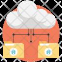 Cloud storage system Icon