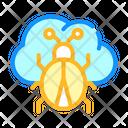 Cloud Virus Color Icon