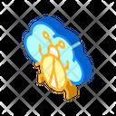 Cloud Virus Isometric Icon