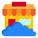 Cloud Store Online Shopping Store Store Icon
