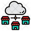 Cloud Store Connection Icon