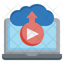 Cloud Streaming Streaming Signal Icon