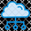 Cloud Structure Cloud Connect Icon