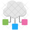 Cloud Structure Computing Icon