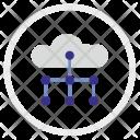 Cloud Structure Scheme Icon
