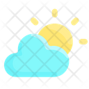 Cloudy Sun Day Icon