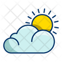 Weather Sun Overcast Icon