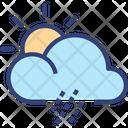 Cloud Sun Rainning Icon
